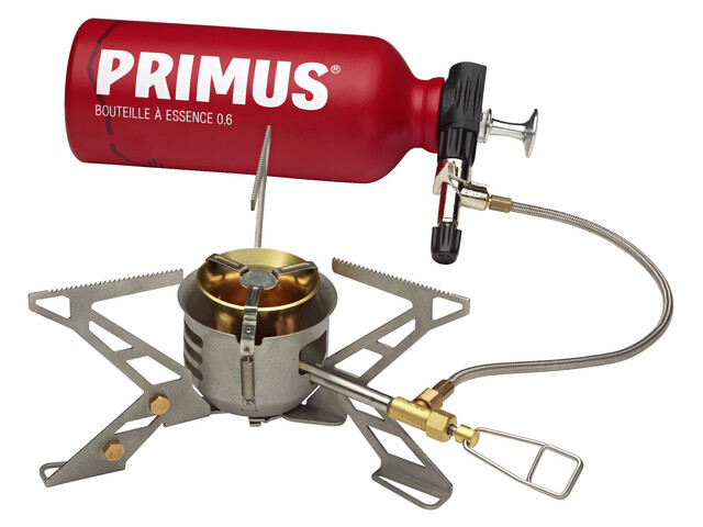 Primus OmniFuel II Stove with fuel bottle and pouch